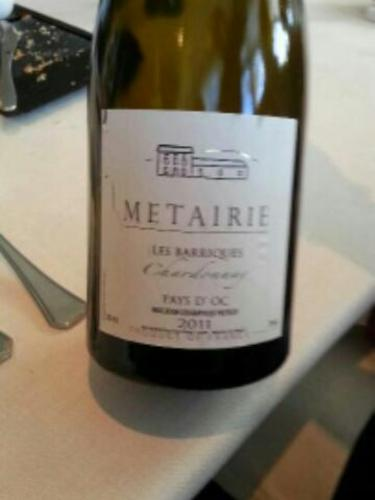 Metairie Les Barriques Chardonnay 2011