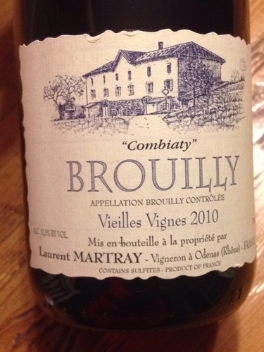 laurent martray combiaty vieilles vignes brouilly 2010 wine info. Black Bedroom Furniture Sets. Home Design Ideas
