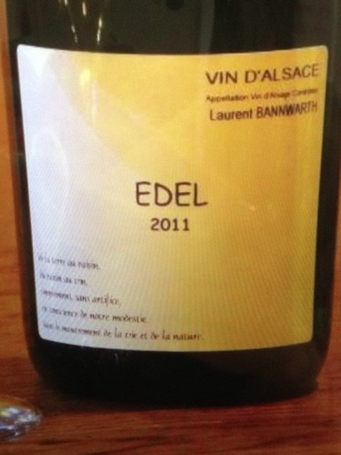 Laurent Bannwarth Edel Vin D' Alsace 2011