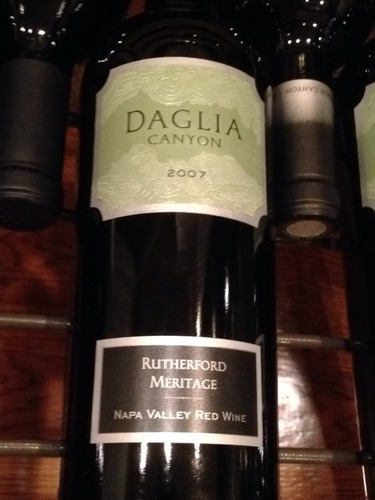 Daglia Canyon Rutherford Napa Valley Meritage 2007