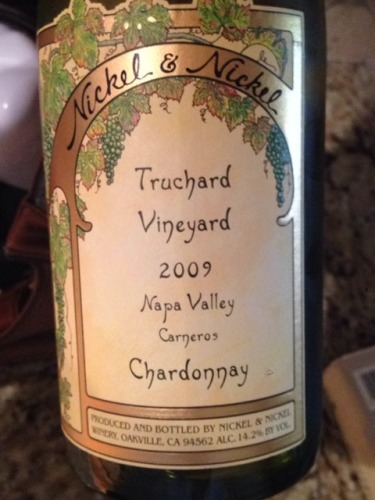nickel nickel chardonnay truchard vineyard 2009. Black Bedroom Furniture Sets. Home Design Ideas