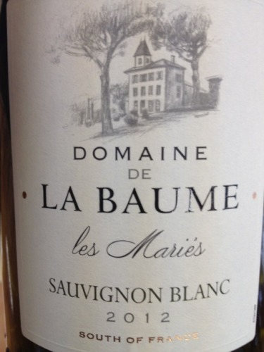 domaine de la baume sauvignon blanc les mari s 2012 wine. Black Bedroom Furniture Sets. Home Design Ideas