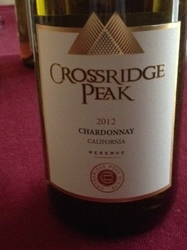 Crossridge Peak Reserve California Chardonnay 2012