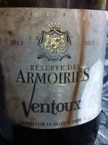 ventoux reserve des armoiries 2012 wine info. Black Bedroom Furniture Sets. Home Design Ideas
