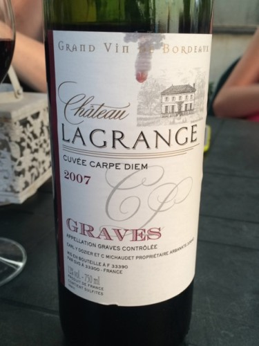 ch teau haut lagrange cuv e carpe diem graves 2007 wine info. Black Bedroom Furniture Sets. Home Design Ideas