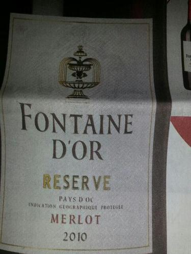 Fontaine D'Or Reserve Merlot 2010