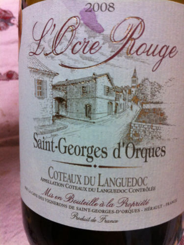 saint georges d 39 orques coteaux du languedoc l ocre rouge wine info. Black Bedroom Furniture Sets. Home Design Ideas