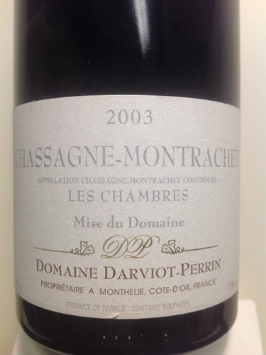 Darviot perrin chassagne montrachet les chambres 2004 for Chambre red wine