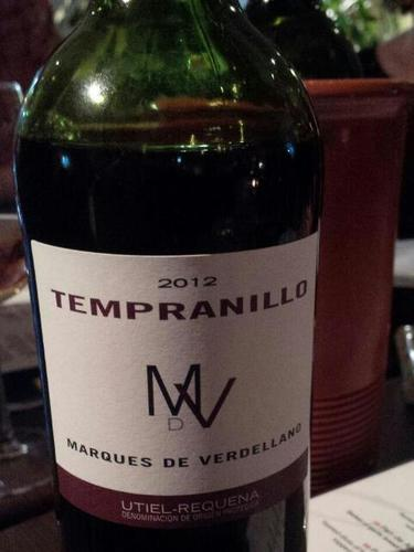 Marques de Verdellano Utiel-Requena Tempranillo 2012
