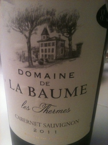 domaine de la baume cabernet sauvignon les thermes 2011. Black Bedroom Furniture Sets. Home Design Ideas
