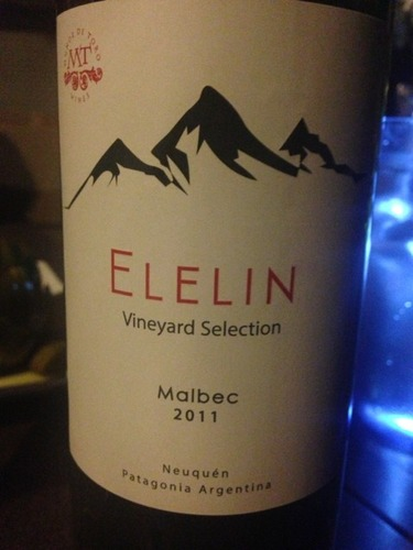 Elelin Vineyard Selection Malbec 2011