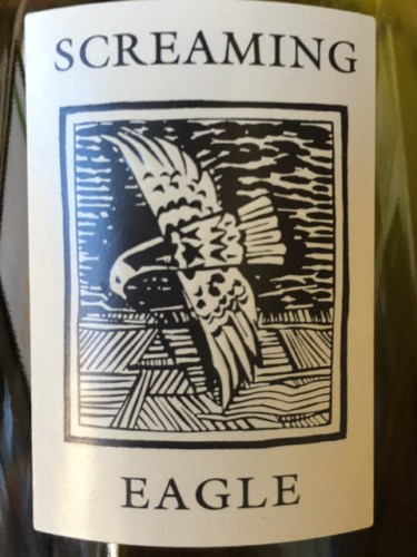 Screaming eagle wine label
