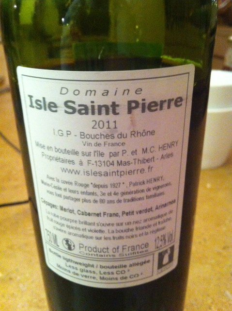 Isle saint pierre bouches du rhone 2011 wine info for Info regionale bouche du rhone