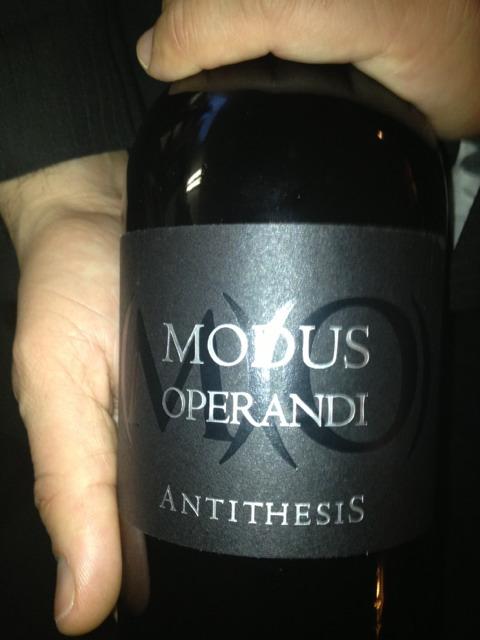 modus operandi antithesis wine