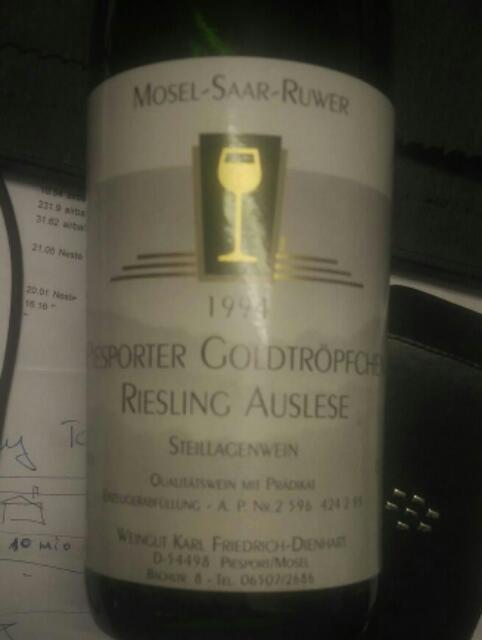 Friedrich deinhard piesporter goldtr pfchen riesling for Deinhard wine