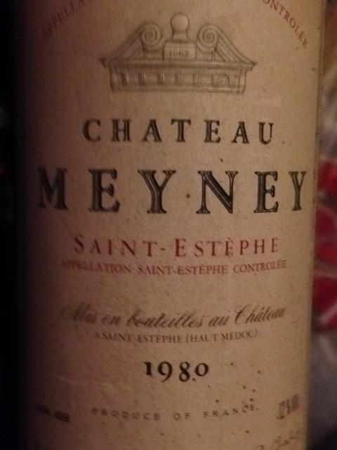 Ch teau meyney saint est phe 1980 wine info for Chateau meyney