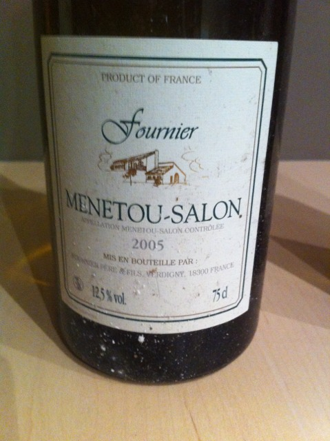 Fournier pere fils menetou salon 2012 wine info for Menetou salon 2012