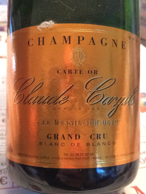Claude cazals champagne mill sime le mesnil sur oger blanc de blancs grand cru 2009 wine info for Salon blanc de blancs le mesnil sur oger
