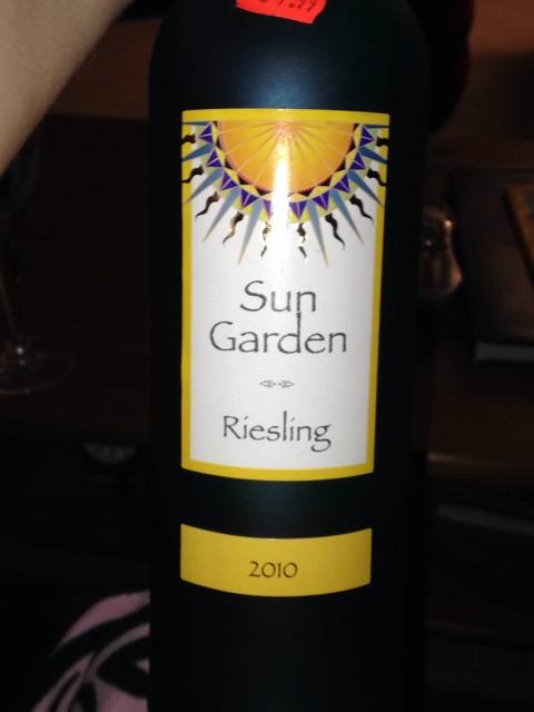 Sun garden riesling 2010 wine info Sun garden riesling