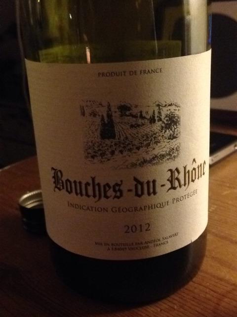 Andeol salavert bouches du rh ne 2012 wine info for Info regionale bouche du rhone