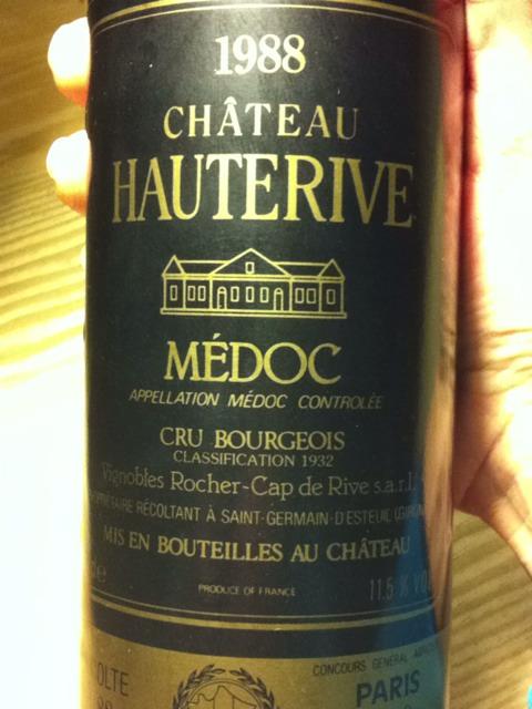 Rocher cap de rive hauterive m doc 1988 wine info for Hauterive 03