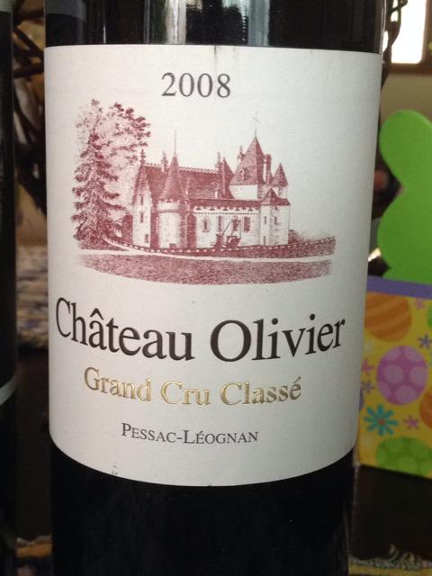 Ch teau olivier pessac l ognan grand cru class 2008 for Chateau olivier