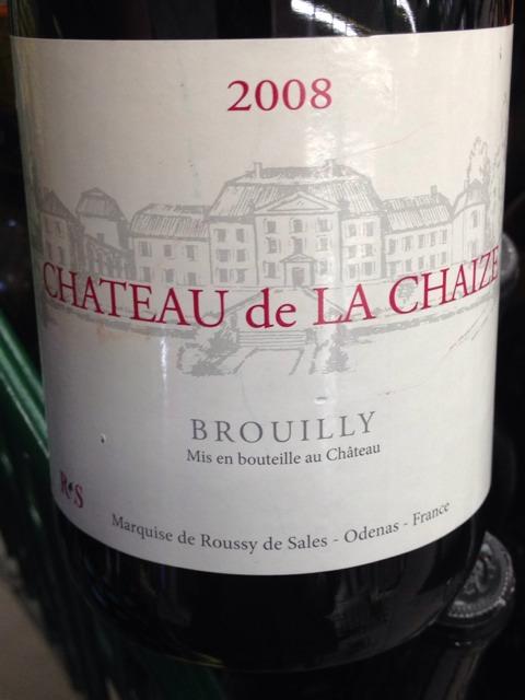 Ch teau de la chaize brouilly 2008 wine info for Brouilly chateau de la chaise