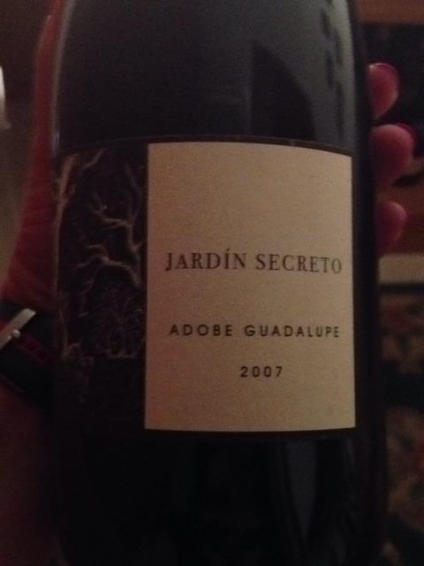 Adobe guadalupe jard n secreto 2007 wine info for Jardin secret wine