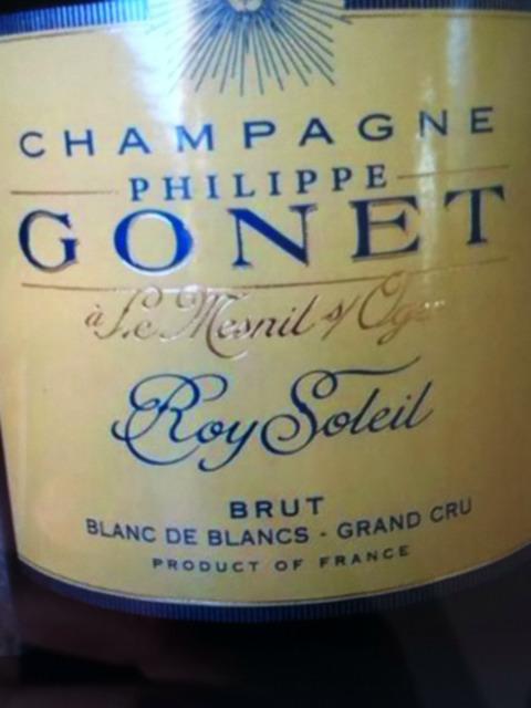 Philippe gonet champagne roy soleil le mesnil sur oger brut blanc de blancs 2013 wine info for Salon blanc de blancs le mesnil sur oger