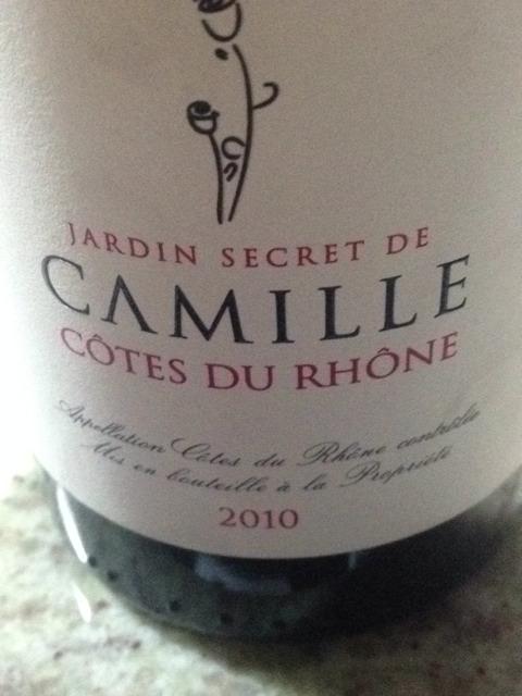 Jard n secret de camille c tes du rh ne wine info for Jardin secret wine