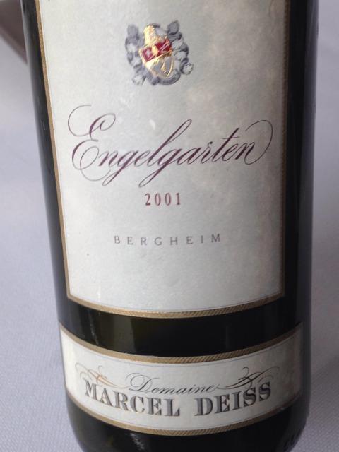 Domaine marcel deiss engelgarten le jardin des anges 2001 for Grand jardin wine