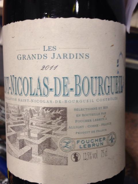 Foucher lebrun les grands jardins saint nicolas de for Grand jardin wine