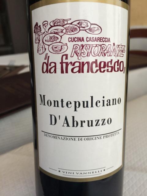 Cucina Casareccia Ristorante Da Francesco Montepulciano D Abruzzo Wine Info