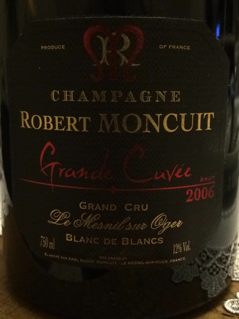 Robert moncuit champagne grande cuv e le mesnil sur oger grand cru blanc de blancs 2006 wine info for Salon blanc de blancs le mesnil sur oger