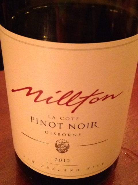 Millton la c te pinot noir 2012 wine info for La fenetre a cote pinot noir 2012