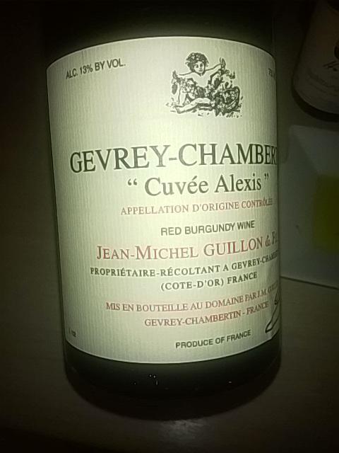 jean michel guillon burgundy cuv e alexis gevrey chambertin red wine info. Black Bedroom Furniture Sets. Home Design Ideas