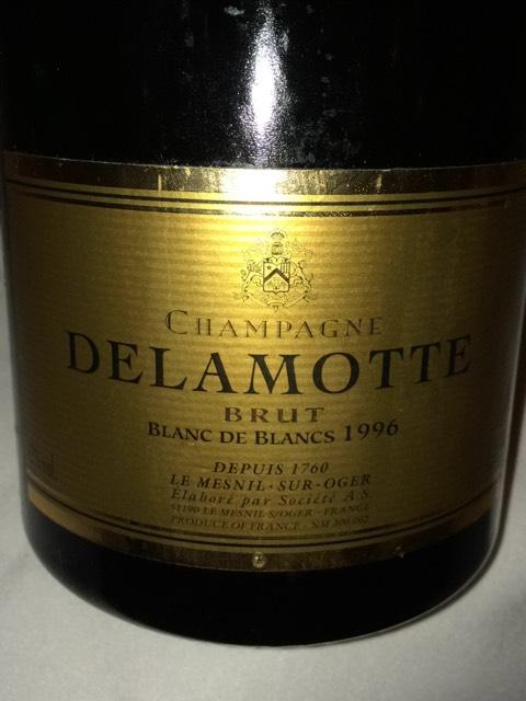 Delamotte champagne blanc de blancs brut 1996 wine info for 1996 salon champagne