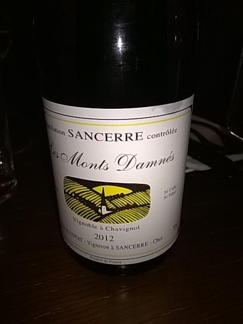 Didier dagueneau sancerre les monts damn 2012 wine info for Jardin de babylone wine