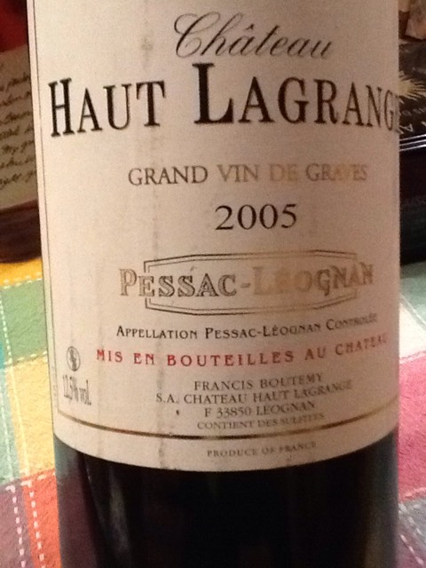 ch teau haut lagrange cuv e grand ch ne pessac l ognan 2005 wine info. Black Bedroom Furniture Sets. Home Design Ideas