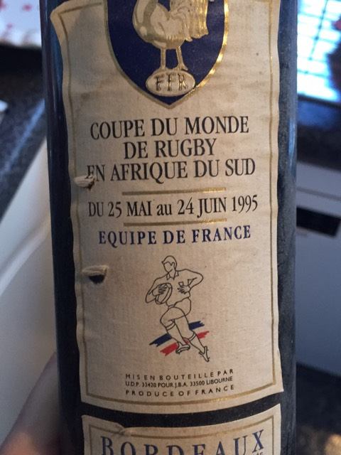 coupe du monde bordeaux de rugby equipe de france 1998 wine info. Black Bedroom Furniture Sets. Home Design Ideas