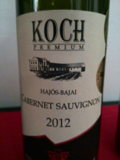 Koch premium hajos bajai ros cabernet sauvignon 2012 for Koch 3 winde