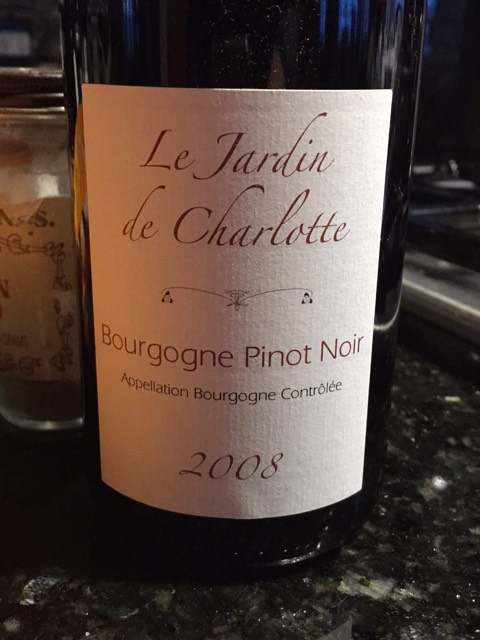 Le jardin de charlotte bourgogne pinot noir 2015 wine info for Le jardin high wine