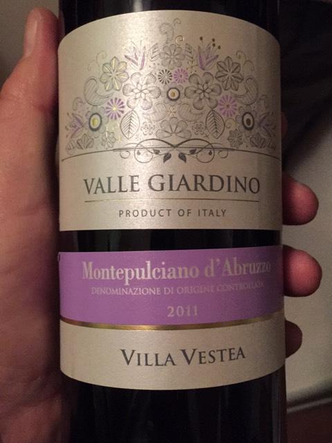 Vestea valle giardino montepulciano d abruzzo 2013 wine info - Giardino d abruzzo ...