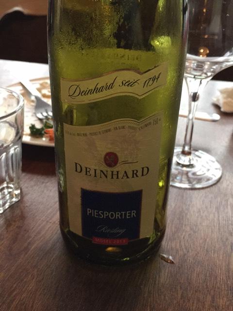 Deinhard mosel piesporter riesling 2013 wine info for Deinhard wine