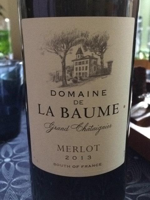 Domaine de la baume merlot grand ch taignier 2013 wine info - Domaine de la baume ...