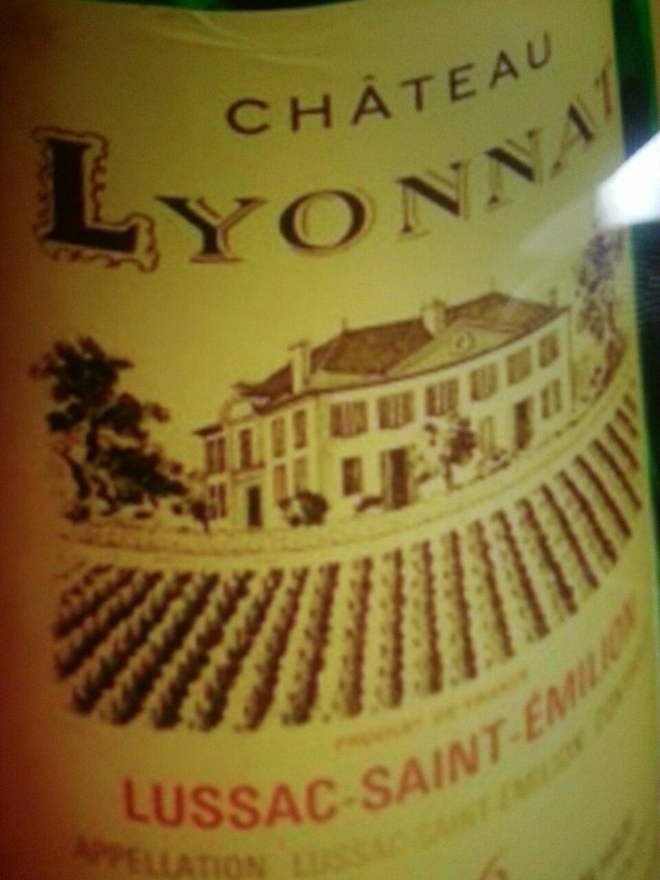 Ch teau lyonnat lussac st milion 1976 wine info for Chateau lyonnat