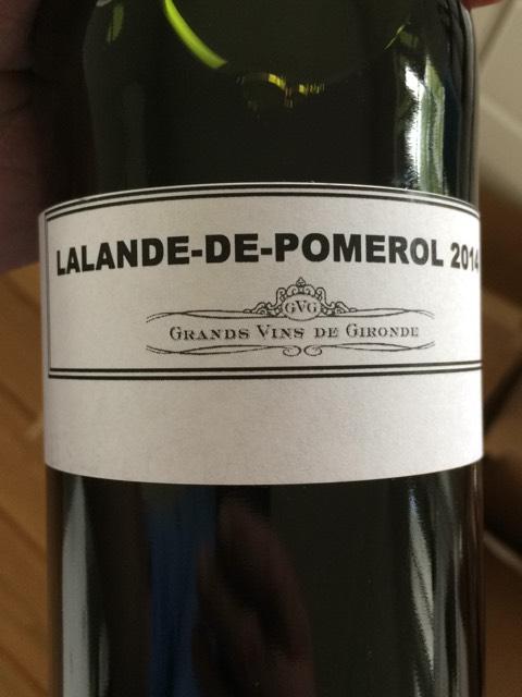 Gironde Lalande -De-Pomerol 2014 | Wine Info | 480 x 640 jpeg 50kB