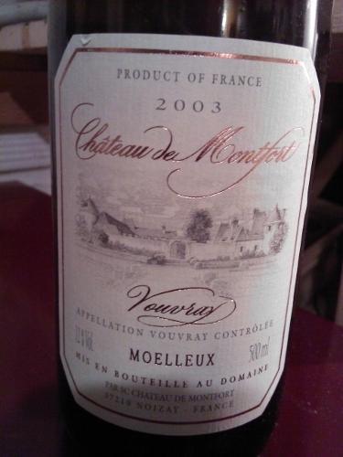 Ch 226 Teau De Montfort Vouvray 2003 Wine Info