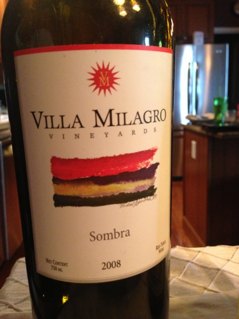Villa milagro sombra 2013 wine info for Villa milagros