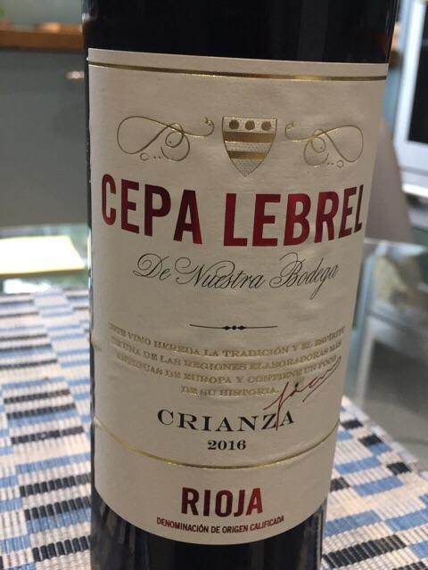 2016 Cepa Lebrel Rioja Crianza Vivino